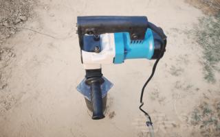 Самодельная насадка-лопата на перфоратор