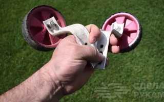 Инструмент для дачи из креплений для велосипедных колес
