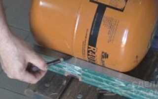 Складной барбекю-мангал из фреонового баллона