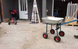 Самодельная строительная тележка с механизмом опрокидывания