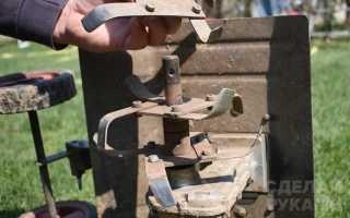 Дачный ямобур из пильного диска с бензоприводом