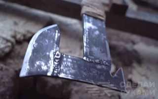 Небольшой топорик из полосы металла своими руками