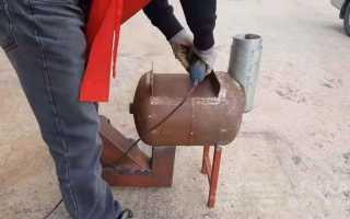 Самодельная ракетная печь из профильной трубы и баллона