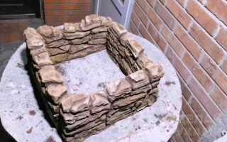 Декоративные элементы ограждения из бетона и ящиков