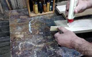 Как заделать трещину в доске с помощью клея и пылесоса