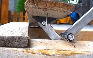 Приспособление для демонтажа дощатого пола из профтрубы