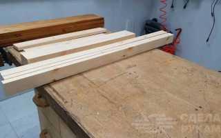Удобный раскладной столик из досок для дачи