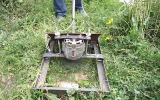 Газонокосилка из двигателя от стиральной машинки своими силами