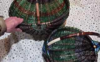 Делаем симпатичное лукошко из ПЭТ веревки