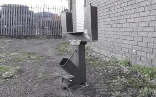 Вариант ракетной печи с варочной поверхностью
