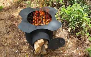 Походная печка из пропанового баллона своими руками