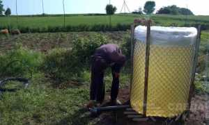 Делаем бак для воды из полиэтиленового рукава