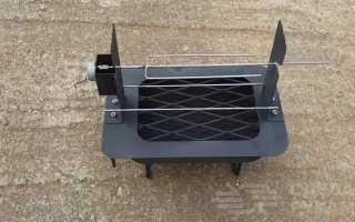 Походная печь барбекю с электроприводом своими руками