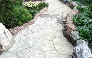 Как сделать бетонную дорожку, вырезанную под декоративный камень
