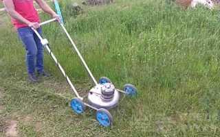 Как из хлама собрать самодельную газонокосилку