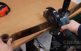 Ручной щепокол для дачи из куска рессоры