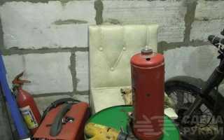 Пескоструй из огнетушителя с системой подачи от кнопки