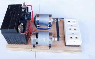 Механический преобразователь 12 — 220 В
