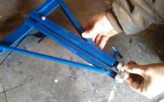 Самодельная приспособа для прокатки листового металла