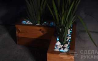 Уличная клумба для цветов со светодиодной подсветкой