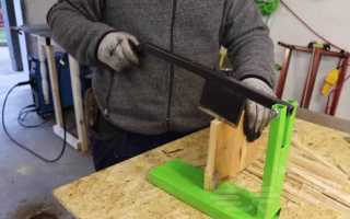 Компактный настольный щепокол-рычаг из профтрубы
