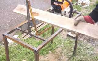 Самодельный распиловочный стол из бензопилы