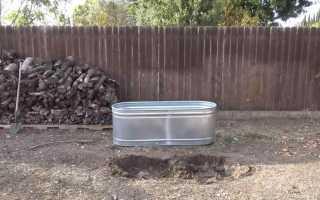 Как сделать ванну с подогревом на дачном участке