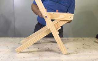 Складной деревянный стульчик своими руками