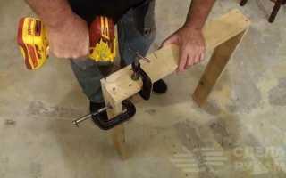 Мобильный складной столик из дерева своими руками