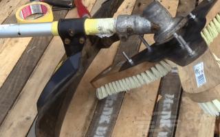 Необычное применение бензинового триммера