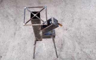 Самодельная ракетная печь мексиканского сварщика