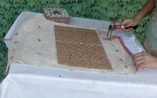 Необычная столешница из битой керамической плитки