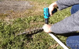 Как сделать простые грабли из уголка и трубы