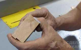 Шлифовальный блок своими руками из доступных материалов