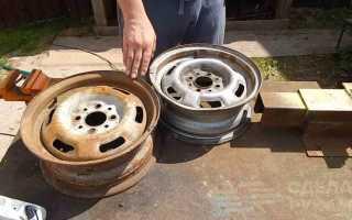 Идея для дачи: печь для казана из дисков авто
