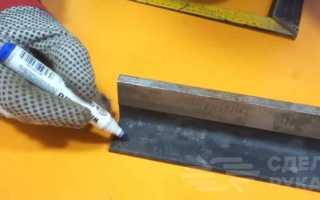 Ручная гильотина из металлолома для домашней мастерской