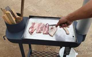 Уличная печь-жаровня для приготовления мяса