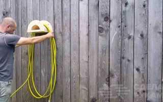 Как сделать держатель для садового шланга