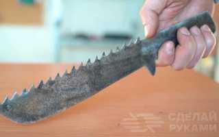 Универсальный нож-тесак из ручной ножовки по дереву