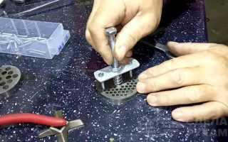 Как заточить решетку и нож на сверлильном станке