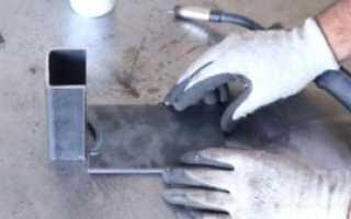 Самодельный ножной упор для совковой лопаты