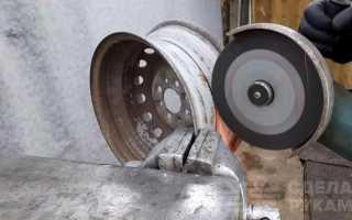 Страховочная подставка под автомобиль из колесного диска