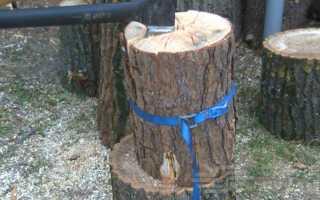 Простой и надежный способ колки дров