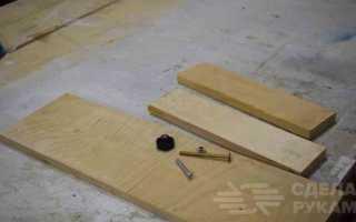 Простой разметочный инструмент из обрезков фанеры