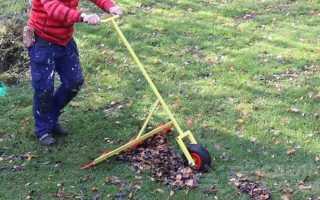 Грабли на колесах: приспособа для уборки листвы на участке