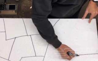 Как сделать имитацию каменной кладки из пенопласта
