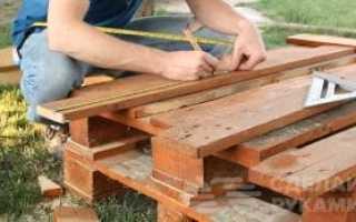 Как сделать удобный стул из поддонов