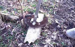 Приспособление для корчевания небольших деревьев на участке