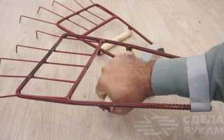 Самодельные веерные грабли, которые надеваются на руки