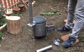 Самодельная мини-печь для дома и дачи из баллона